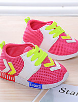 Unisex Sneakers Spring Fall Tulle Outdoor Athletic Flat Heel Others Blue Red