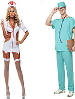 Costumes Uniforms Halloween White / Blue Solid Terylene Top / Dress / Pants / More Accessories