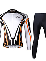 Ilpaladin Sport Men Long Sleeve Cycling Jerseys Suit CT708 Orange Dazzle