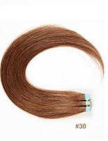 קלטת מכירה חמה שיער אדם רמי טווה תוספות שיער אדם ישר משיי 20pcs / שקית 100% שיער אדם בתול רמי
