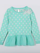 Girl's Casual/Daily Polka Dot Sweater & CardiganCotton Fall Green
