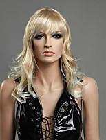 blond couleur à long perruques frisées capless perruques synthétiques pour les femmes afro