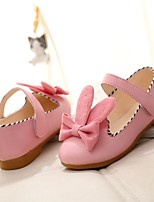 Girl's Flats Spring / Summer / Fall Flats PU Outdoor Flat Heel Bowknot / Magic Tape Pink / Beige Others