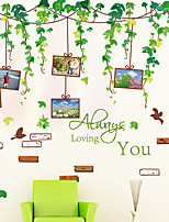 Floral / Árboles y Hojas / Art Decó Fondo de pantalla Para el hogar Contemporáneo Revestimiento de pared , PVC/Vinilo Materialadhesiva
