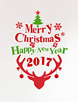 Wall Stickers Wall Decals Style Christmas New Year PVC Wall Stickers
