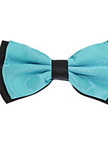 Adjustable Men Jacquard Double Layer Silk Bowtie Bow tie
