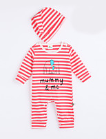 Girl's Casual/Daily Striped Overall & JumpsuitCotton Fall Red