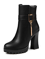 Women's Shoes Boots Spring/Fall/Winter Heels/Platform/Fashion Boots/Bootie/Round Toe  Office Career/Dress/Casual