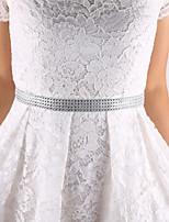 Satin Wedding / Party/ Evening / Dailywear Sash-Appliques Women's 98 in(250cm) Appliques