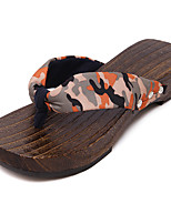 Women's Clogs & Mules Summer Slingback Cotton Casual Flat Heel Others Red / Orange Others