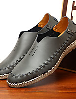 Men's Loafers & Slip-Ons Summer Comfort Leather Casual Flat Heel Others Blue / Brown / Gray Others