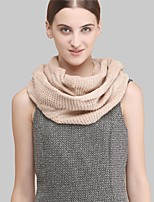Women Wool ScarfCasual Infinity ScarfPink / Gray / BeigeSolid