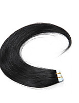 30-50g/pack 16-24inch Indian Remy hair #1Dark Black Tape In Human Hair Extensions