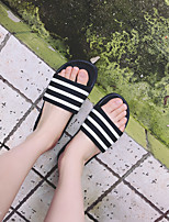Women's Slippers & Flip-Flops Spring / Summer / Fall Flats Rubber Casual Flat Heel Others Black and White Others