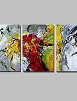 Handgemalte Abstrakt Ölgemälde,Modern / Europäischer Stil Drei Paneele Leinwand Hang-Ölgemälde For Haus Dekoration