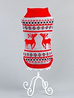 Christmas Reindeer Pattern Winter Dogs Sweater for Dogs Clothing  (Assorted Sizes and Colours)