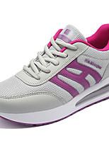 Da donna-Sneakers-Tempo libero / Casual / Sportivo-Punta arrotondata-Piatto-PU (Poliuretano)-Nero / Grigio topo