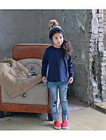 Girl's Casual/Daily Striped TeeCotton Spring / Fall Blue