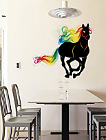 Wall Stickers Wall Decals Colorfull Horse Feature Removable Washable PVC