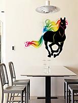 Животные Наклейки Простые наклейки Декоративные наклейки на стены,PVC материал Влажная чистка / Съемная Украшение дома Наклейка на стену