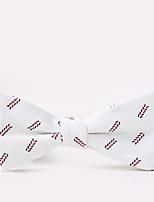 Noeud Papillon Vintage / Soirée / Travail / Décontracté Coton,Homme Imprimé,Blanc Printemps / Eté / Automne / Hiver / Toutes les Saisons