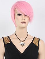ohcos ao no exorcist shima cosplay perruque renzou 35cm cosplay perruques courte perruque synthétique rose