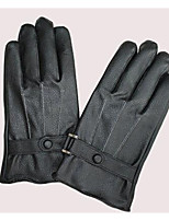 Men'S Winter Warm And Windproof Gloves Washed Leather With Cashmere  Cold  Leather Gloves Motorcycle Riding