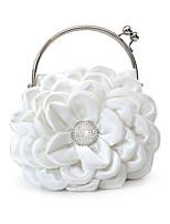 L.west Women Elegant High-grade Silk Flower Diamond Evening Bag