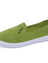 Черный / Зеленый / Белый / Серый-Женский-Для прогулок / На каждый день-Ткань-На плоской подошве-Удобная обувь-На плокой подошве