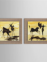 Modern Wall Art Pictures Abstract Oil Painting Bullfight Hand-Painted On Linen Home Decoration Painting With Frame