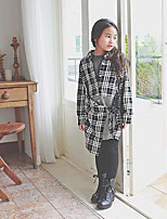 Girl's Casual/Daily Patchwork Dress / Overall & JumpsuitCotton Spring / Fall Black