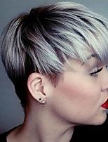 beau court capless droite perruques de cheveux humains couleur mélangée 10 Maxi