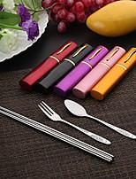 Нержавеющая сталь 304 Столовая вилка / Набор / Салатная ложка / палочки для еды Ложки / Вилки / Chopstick 3 шт.