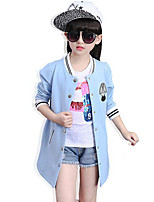 Girl's Casual/Daily Patchwork Blouse / Suit & BlazerRayon Spring / Fall Blue / Pink