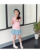 Girl's Casual/Daily Solid TeeCotton / Polyester Spring / Fall Pink