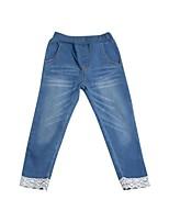 Mädchen Hose-Lässig/Alltäglich einfarbig Baumwolle Frühling / Herbst Blau