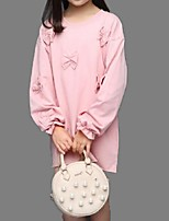Girl's Casual/Daily Jacquard TeeCotton Spring / Fall Blue / Pink