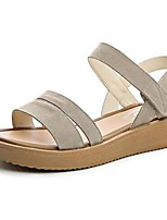 Women's Sandals Summer Sandals PU Casual Flat Heel Others Black / Gray Others