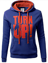 Women's Casual/Daily / Sports Simple / Active Regular Hoodies Letters V Neck Long Sleeve 916402
