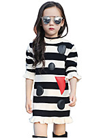 Girl's Casual/Daily Print DressCotton / Rayon Spring / Fall Black / Red / Gray