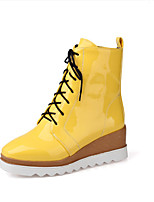 Women's Boots Fall Leatherette Casual Flat Heel Others Black Yellow Red White Walking