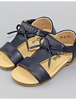 Girl's Sandals Summer Sandals Leatherette Outdoor Flat Heel Bowknot Black / White Others