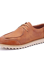 Men's Flats Spring / Summer / Fall / Winter Fashion Boots / Flats Office & Career / Casual Flat Heel Lace-up