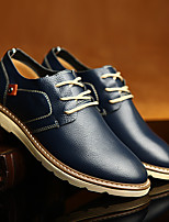 Men's Flats Scuff Leather Casual Lace-up Black / Blue / Brown Others