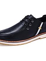 Men's Athletic Shoes Spring / Fall Comfort PU Casual Flat Heel  Black / Brown / Khaki Sneaker