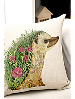 1PC Household Articles Back Cushion Novelty Originality Fashionable Floral Animal Print Prints Pillow Case
