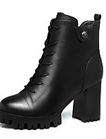 Women's Boots Winter Heels Leatherette Wedding / Party & Evening Chunky Heel Others Black / Burgundy Others