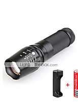 Yurroad 3000 Lumens CREE T6 Led Flashlight Zoomable 5 Modes Penlight Torch Non-slip Linterna/lanterna 18650/Charger