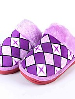 Unisex Slippers & Flip-Flops Fall / Winter Flats Chiffon Casual Flat Heel Plaid Blue / Purple / Red Others