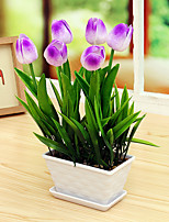 1PCS Graceful Miniascape Fake Tulips Tree Home Decor Artificial Flower